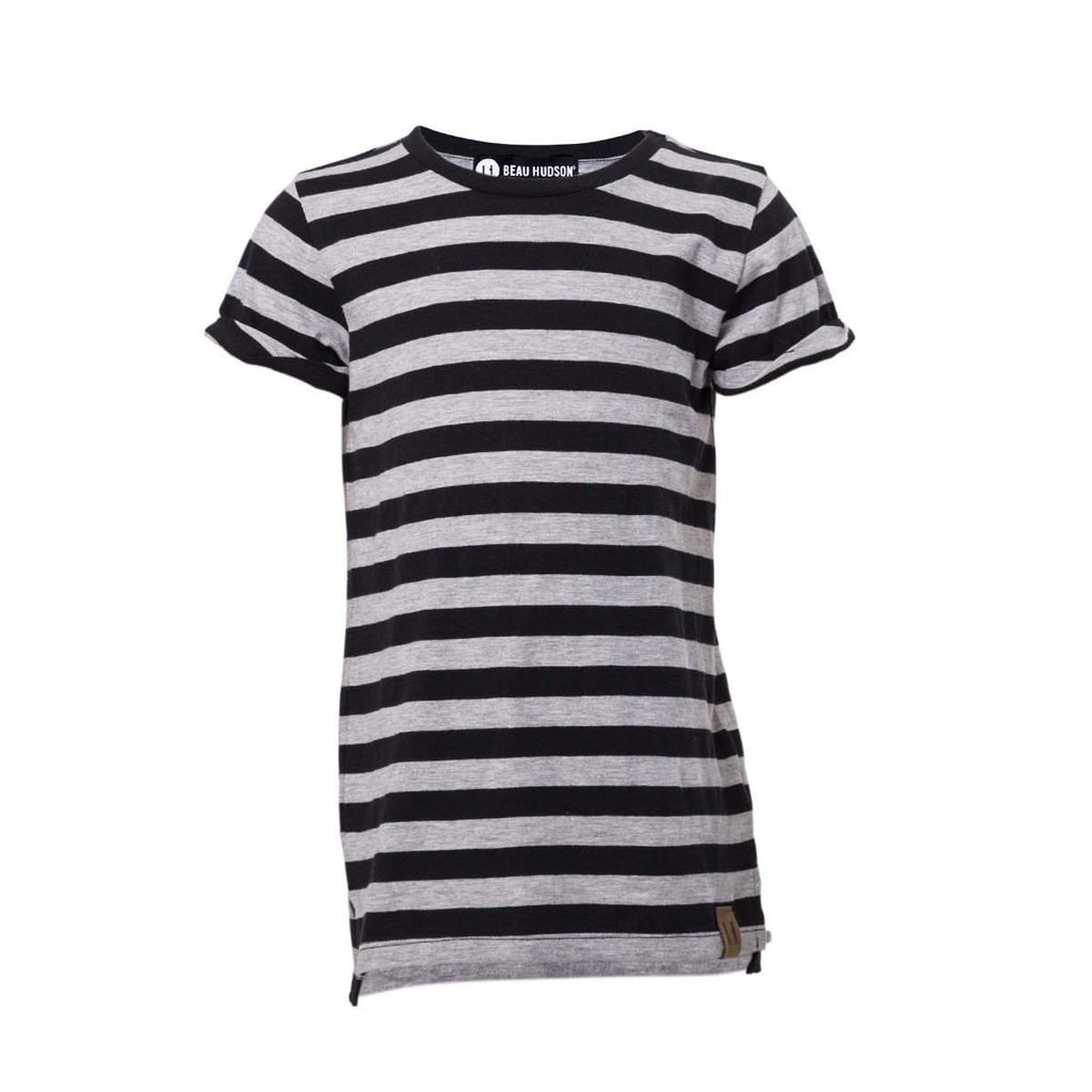 Beau Hudson Grey Stripe Tee Afterpay