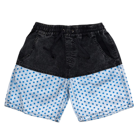 Children of the Tribe Drawstring Shorts | Chambray Stone | Size 6-8Y Last One Afterpay