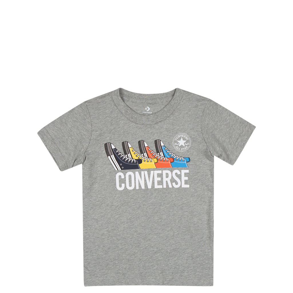 Converse Kids Boys Multi Sneaker Junior Tee Dark Grey Heather