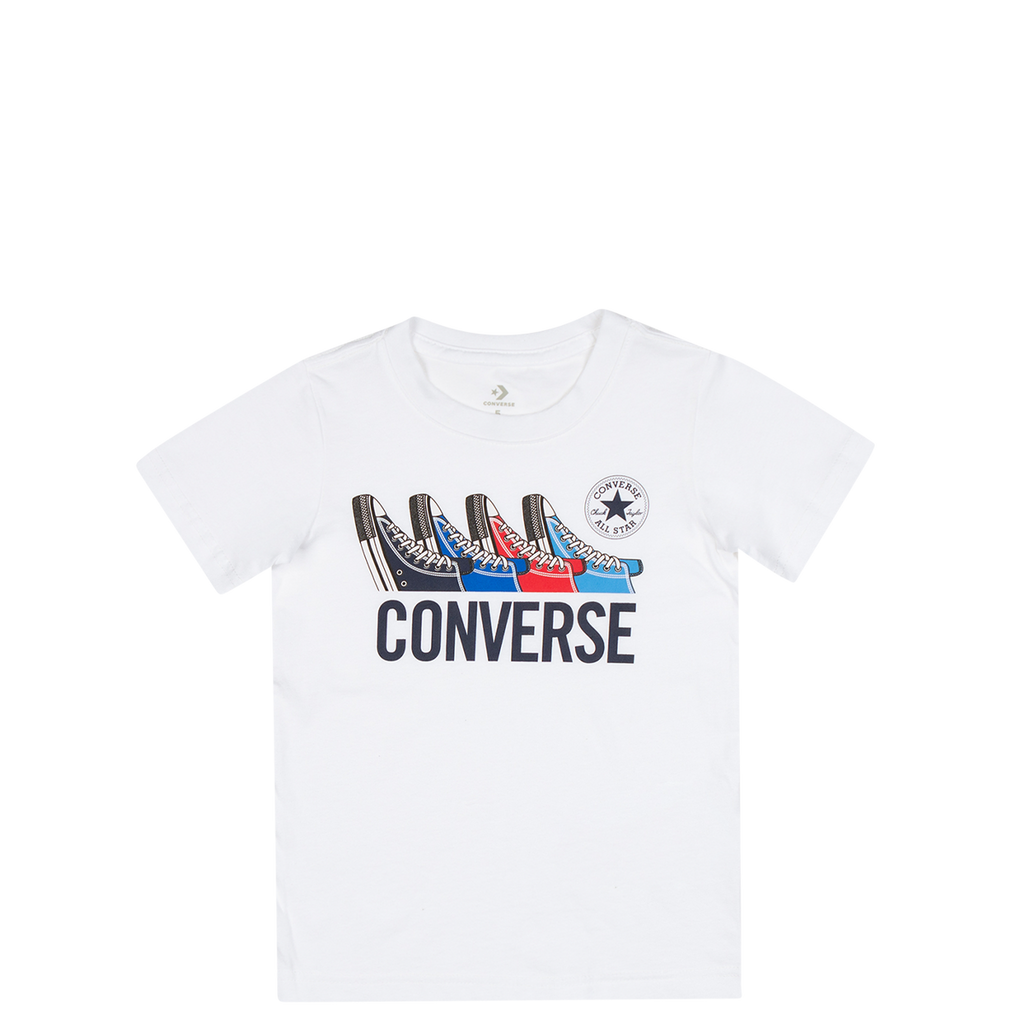 Converse Kids Boys Multi Sneaker Junior Tee White