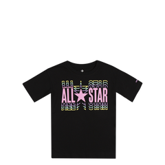 Converse Kids Girls All Star Elongated Junior Tee Black