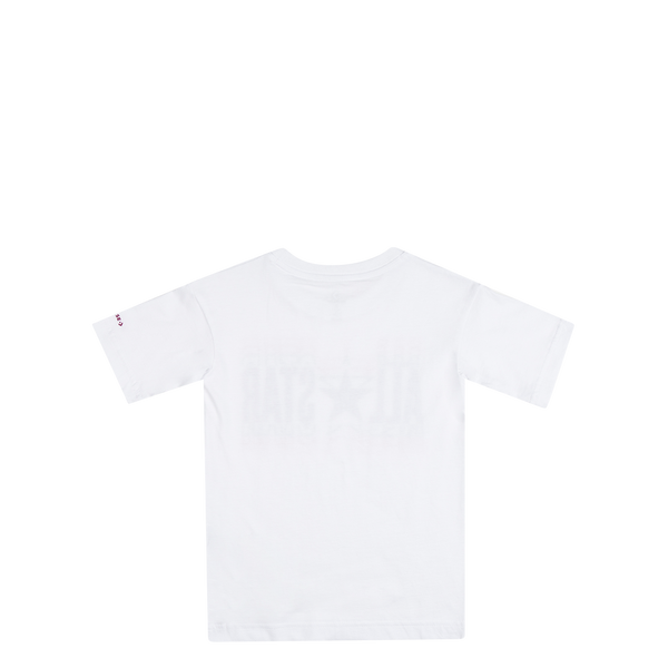 Converse Kids Girls All Star Elongated Junior Tee White