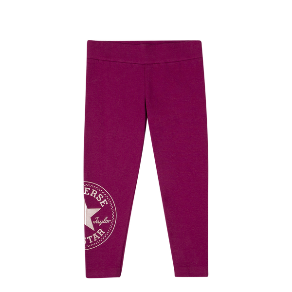 Converse Kids Girls Chuck Patch Junior Legging Rose Maroon