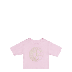 Converse Kids Girls Spliced Chuck Patch Boxy Junior Tee Cherry Blossom