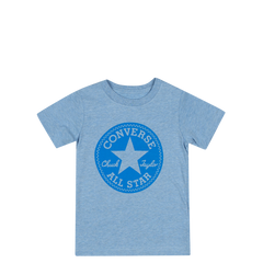 Converse Kids Boys Overdye Junior Chuck Patch Tee Light Blue Heather