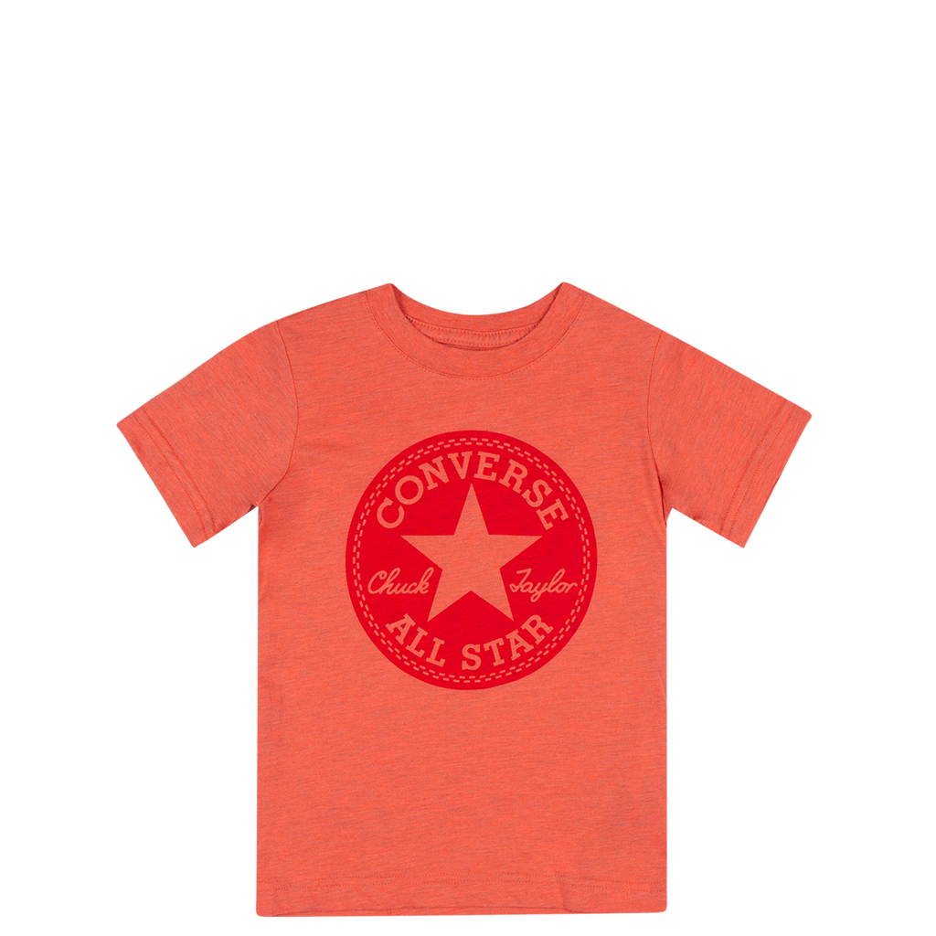 Converse Kids Boys Overdye Junior Chuck Patch Tee Red Heather