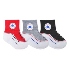 Converse Kids Toddler Socks Black - 3 Pack | Size 12-24M Last One