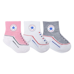 Converse Kids Toddler Socks Pink - 3 Pack