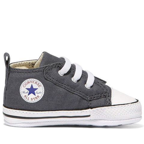 Baby Converse Chuck Taylor First Star Easy Slip | Charcoal