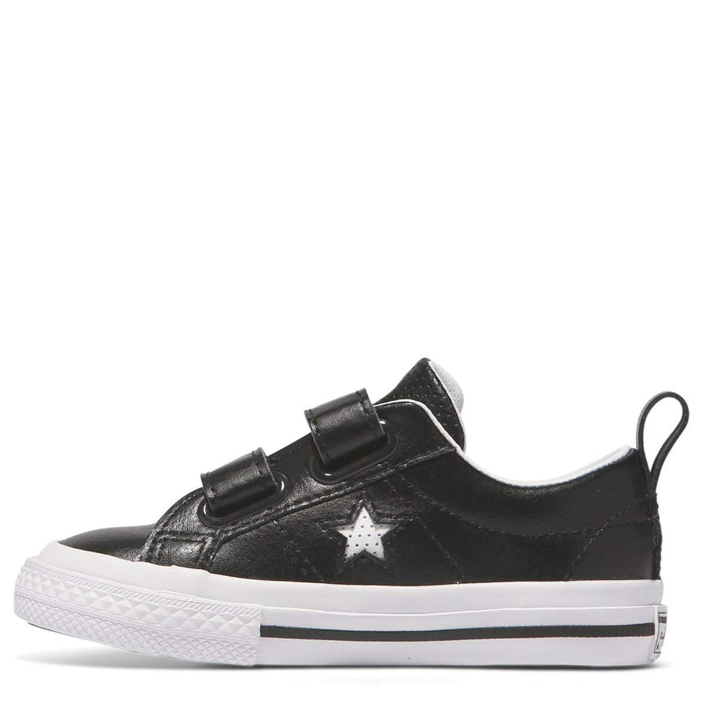 b719d369ec0e Converse Kids Black One Star Leather 2V Toddler Low Top