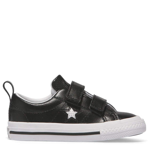 Converse Kids One Star Leather 2V Toddler Low Top | Black