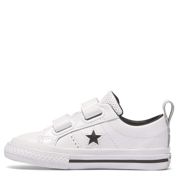 Converse Kids White One Star Leather 2V Toddler Low Top ...