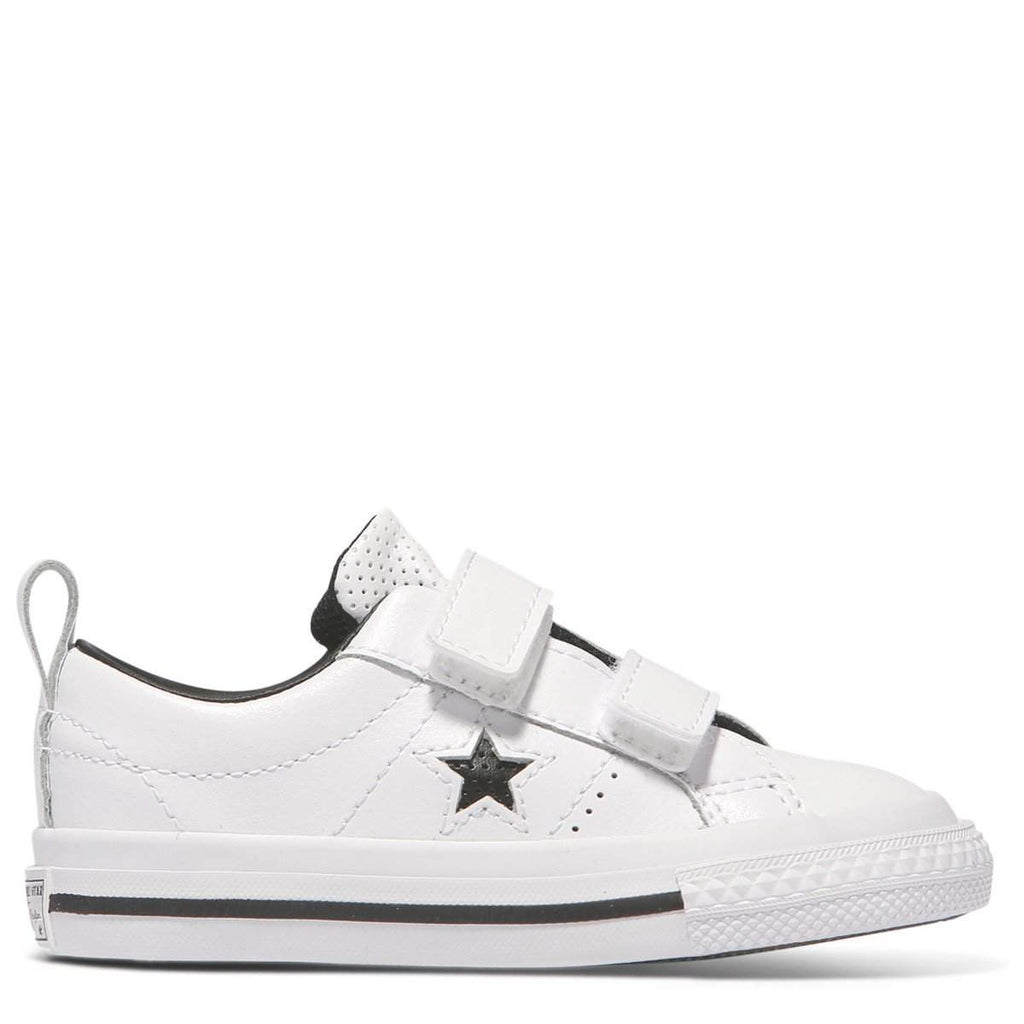 7437a9e0fbd4 Converse Kids White One Star Leather 2V Toddler Low Top