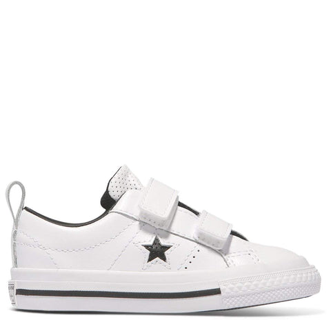 Converse Kids One Star Leather 2V Toddler Low Top | White | Limited Sizes