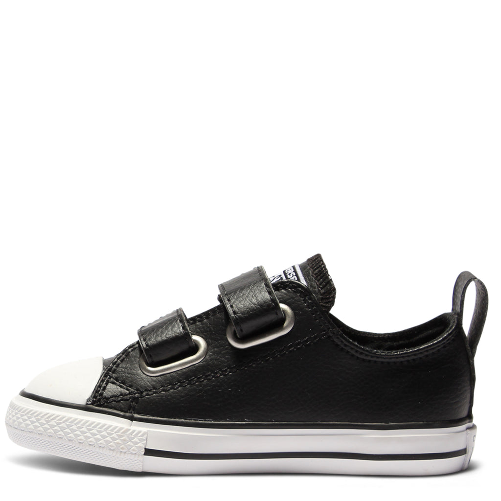 40a69298fe5 ... Converse Kids Chuck Taylor All Star Leather Toddler 2V Black ...