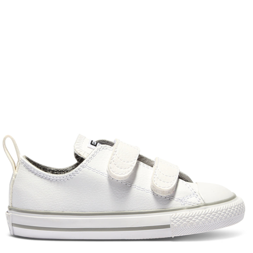 df5747f856bb ... new zealand converse kids chuck taylor all star leather toddler 2v  white 11663 df2b2