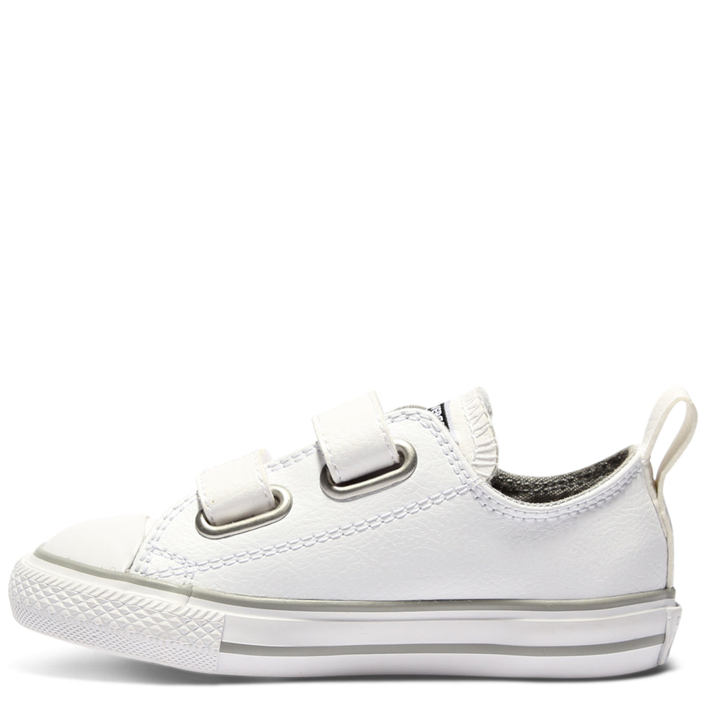 ... Converse Kids Chuck Taylor All Star Leather Toddler 2V White ... 82fae1e99