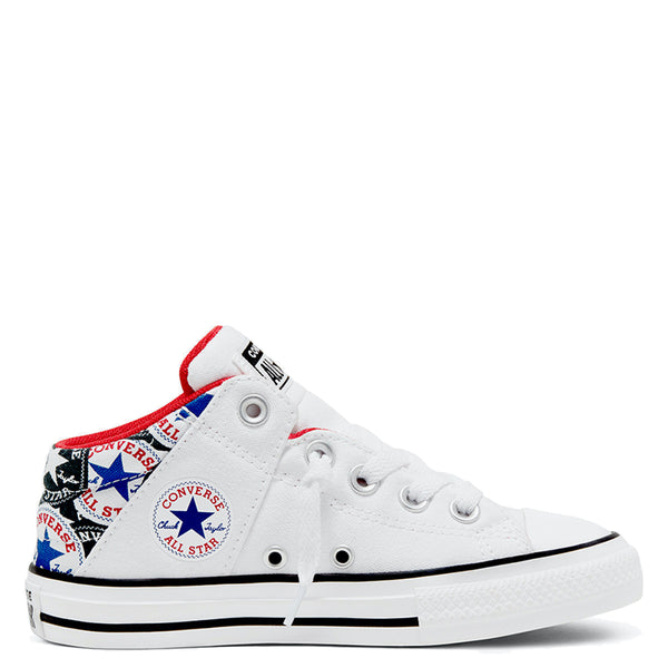 Converse Kids Chuck Taylor All Star Axel Allover Patch Junior Mid White