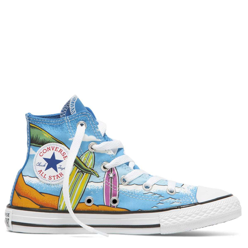 Converse Kids Chuck Taylor All Star Dino's Beach Party Junior High Top