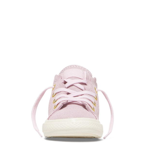 Converse Kids Chuck Taylor All Star Frilly Thrills Toddler Low Top Pink Foam Girls Shoes