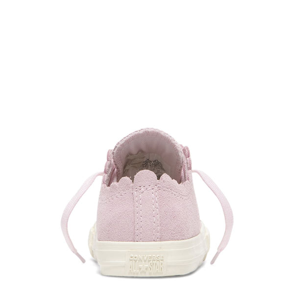 Converse Kids Chuck Taylor All Star Frilly Thrills Toddler Low Top Pink Foam Girls Sneakers