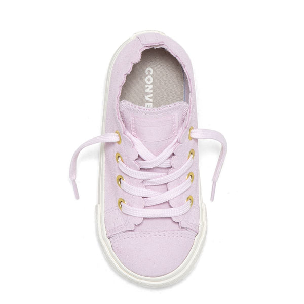Converse Kids Chuck Taylor All Star Frilly Thrills Toddler Low Top Pink Foam Shoes
