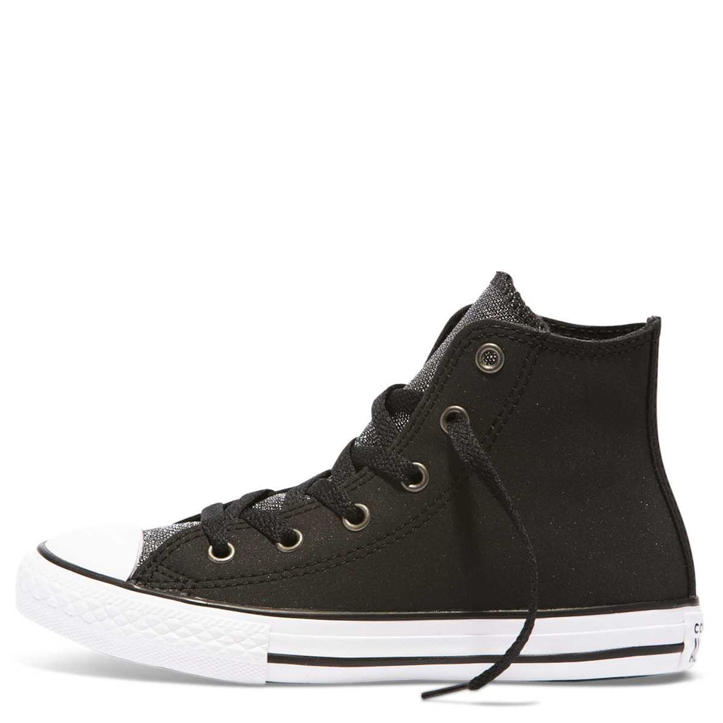 57623244150f ... Converse Kids Chuck Taylor All Star Glitter Junior High Top Black ...