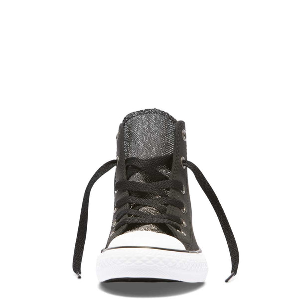 Converse Kids Chuck Taylor All Star Glitter Junior High Top Black