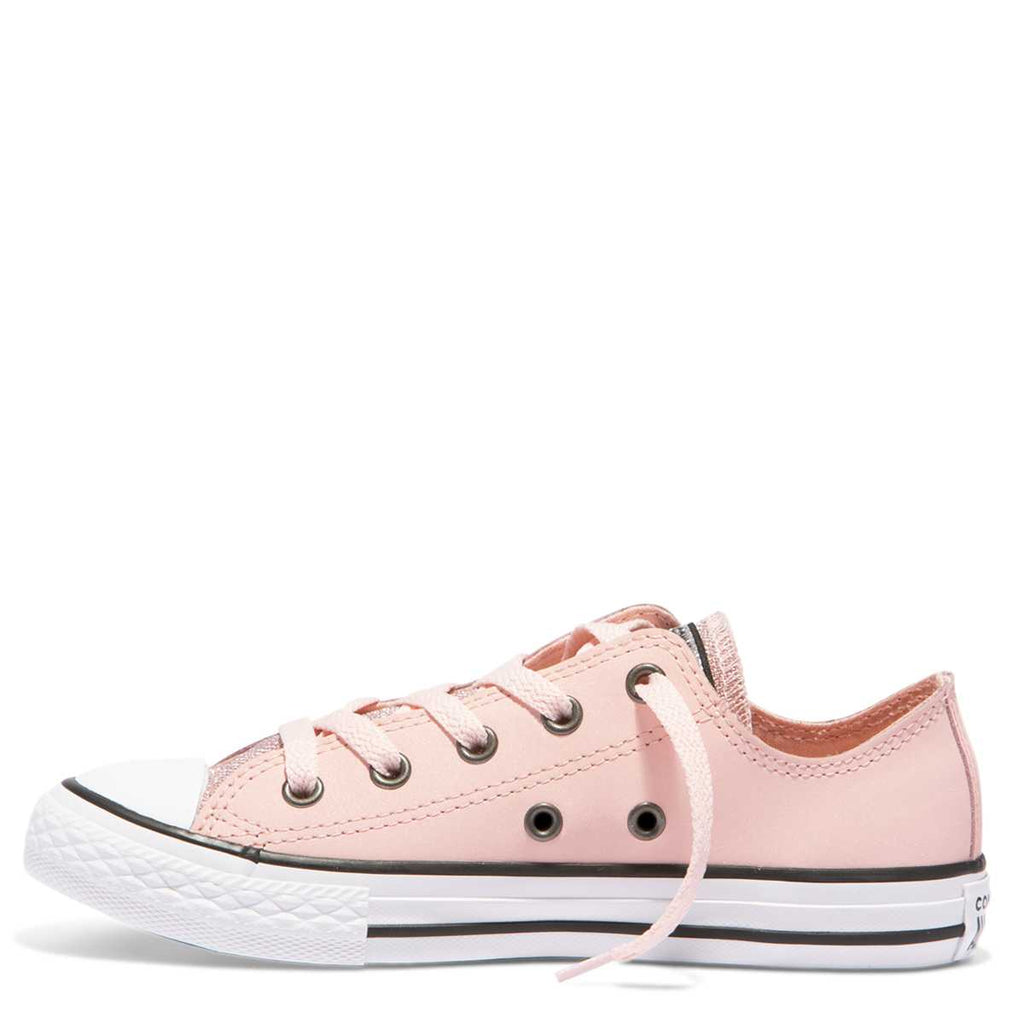 1fcb6823d1ce ... Converse Kids Chuck Taylor All Star Glitter Junior Low Top Storm Pink  ...