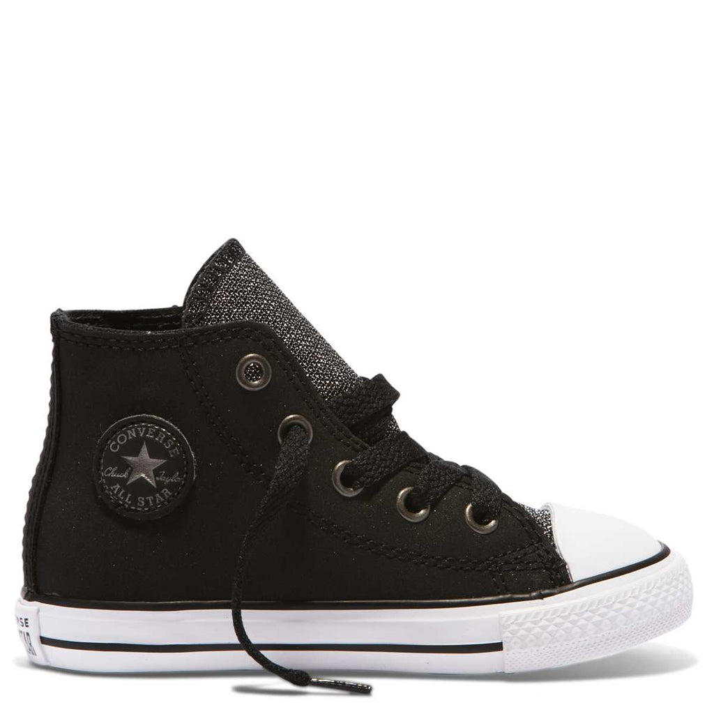 28c0c5e24fb4 Converse Kids Chuck Taylor All Star Glitter Toddler High Top Black ...
