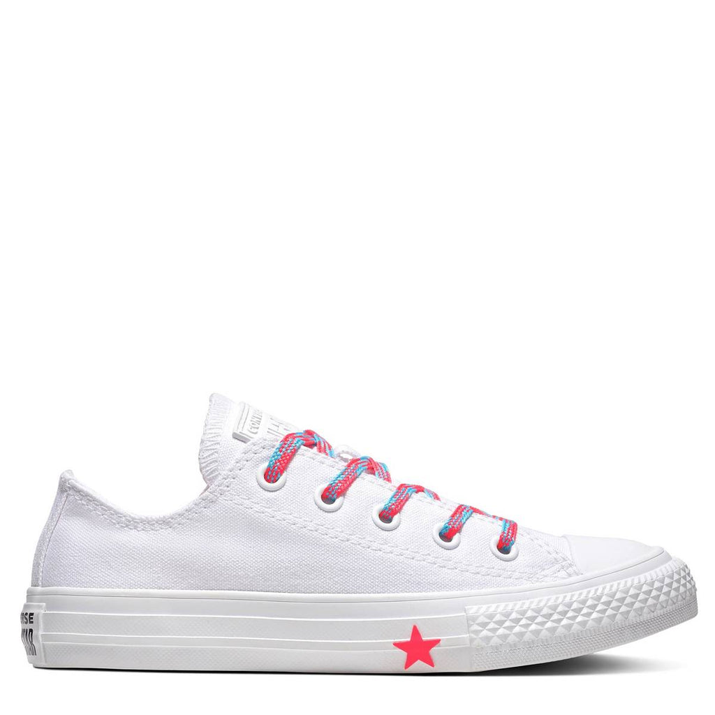 Converse Kids Chuck Taylor All Star Glow Up Junior Low Top White