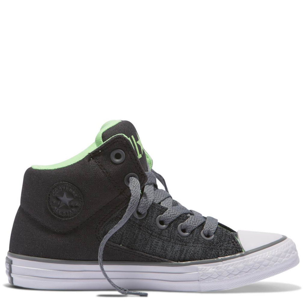 Converse Kids Chuck Taylor All Star High Street Heather Textile Junior High Top Almost Black Afterpay