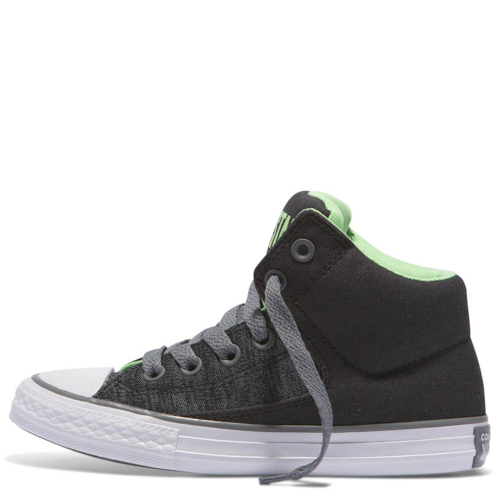 a470afbec85 ... Converse Kids Chuck Taylor All Star High Street Heather Textile Junior  High Top Almost Black Afterpay ...