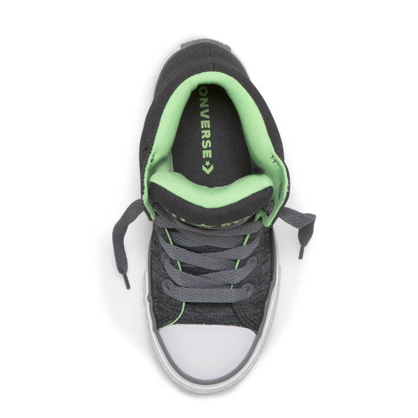 Converse Kids Chuck Taylor All Star High Street Heather Textile Junior High Top Almost Black Australia