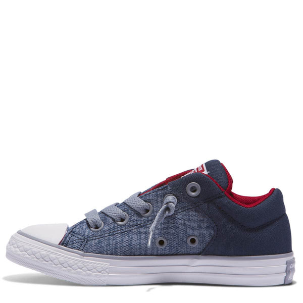 Converse Kids Chuck Taylor All Star High Street Heather Textile Junior Low Top Navy Afterpay Kids Shoes
