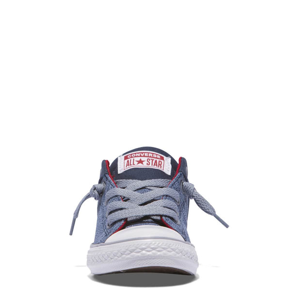 Converse Kids Chuck Taylor All Star High Street Heather Textile Junior Low Top Navy Afterpay Australia