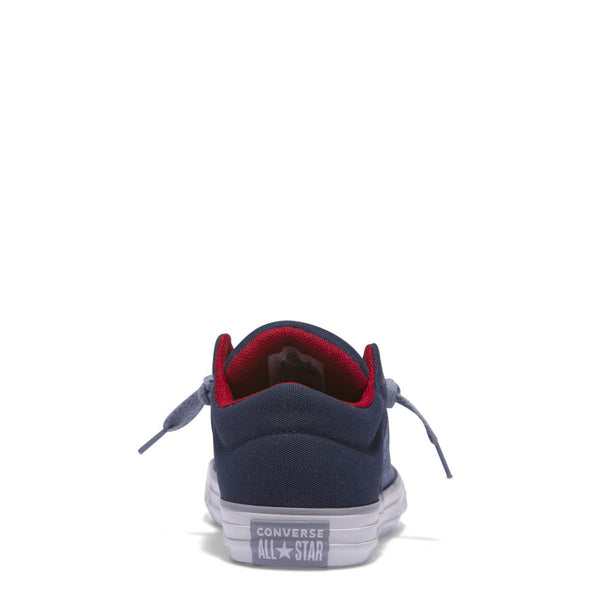 Converse Kids Chuck Taylor All Star High Street Heather Textile Junior Low Top Navy Afterpay Online