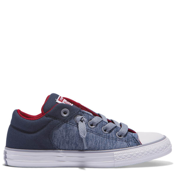 Converse Kids Chuck Taylor All Star High Street Heather Textile Junior Low Top Navy Afterpay