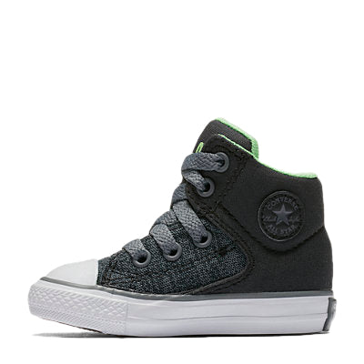 Converse Kids Chuck Taylor All Star High Street Heather Textile Toddler High Top Almost Black Afterpay Boys Shoes