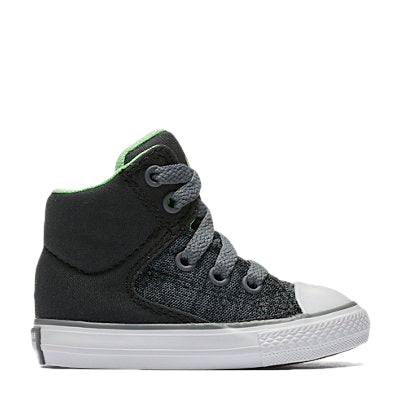 Converse Kids Chuck Taylor All Star High Street Heather Textile Toddler High Top Almost Black Afterpay