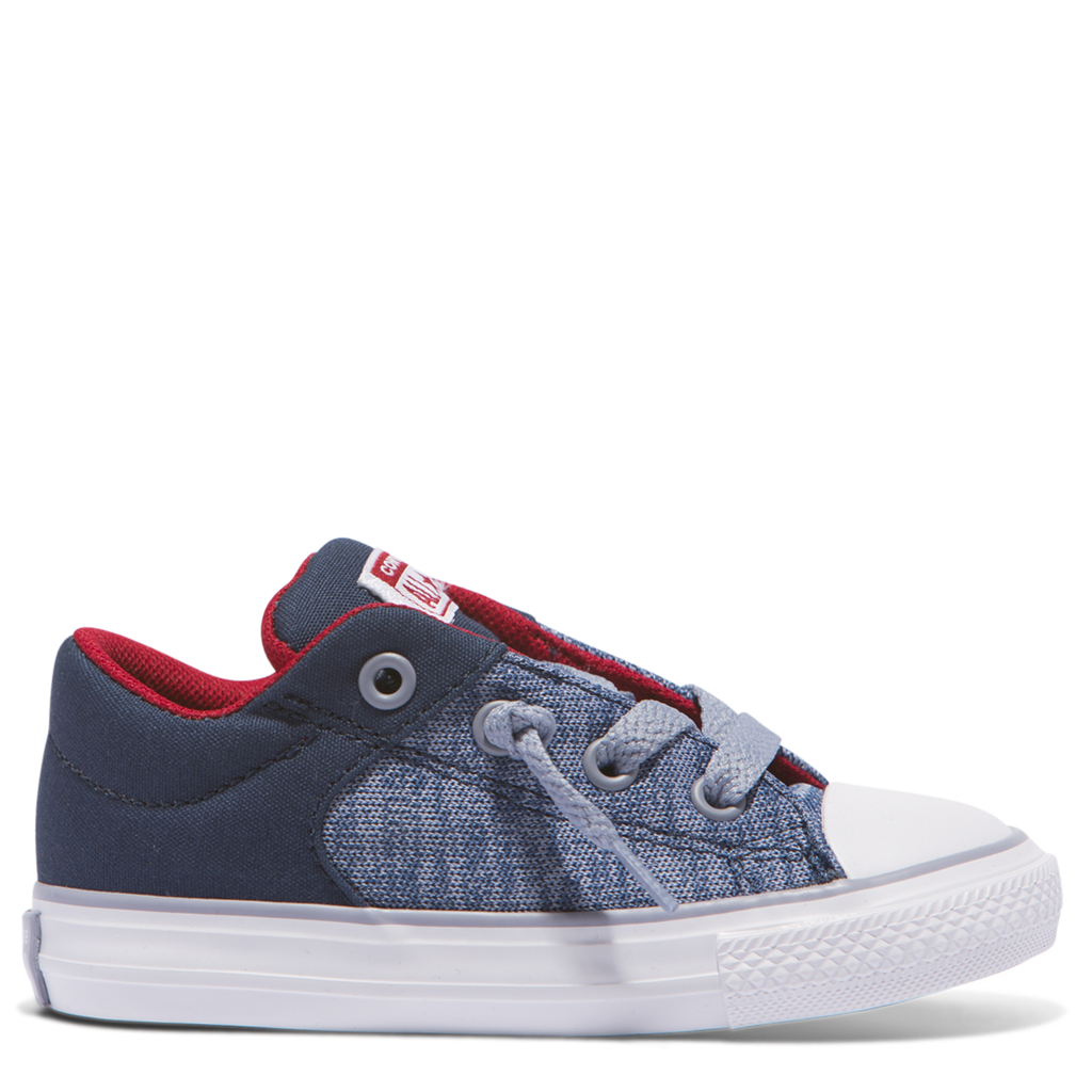 8c2ed5433fa1 Converse Kids Chuck Taylor All Star Heather Textile Toddler Low Top Navy