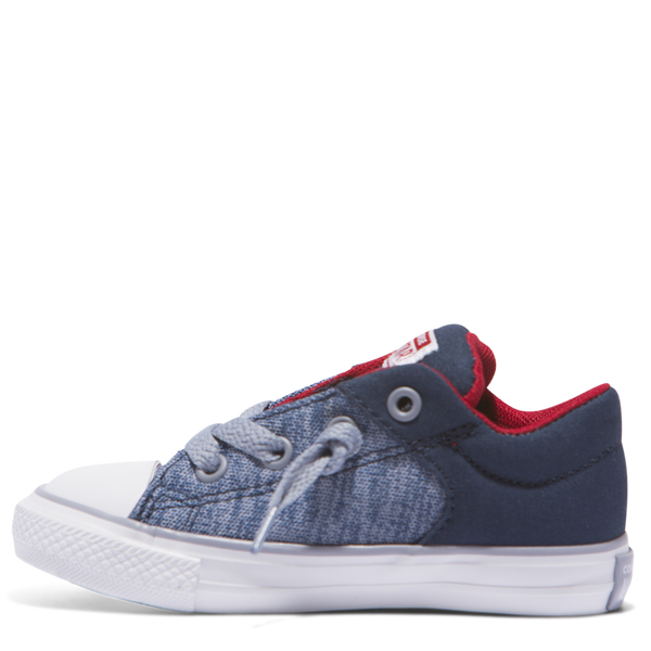 Converse Kids Chuck Taylor All Star Heather Textile Toddler Low Top Navy