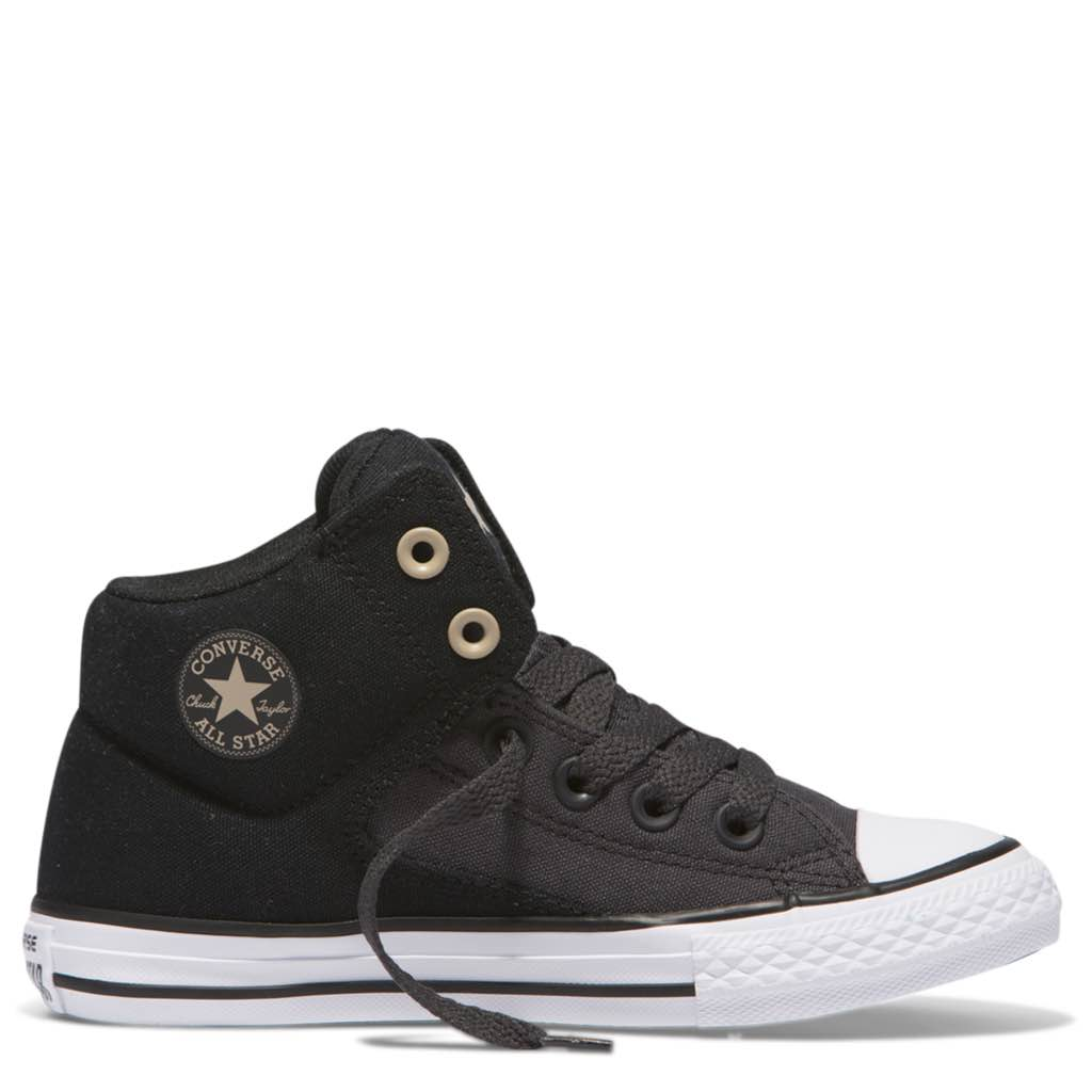 Converse Kids Chuck Taylor All Star High Street Junior High Top Black