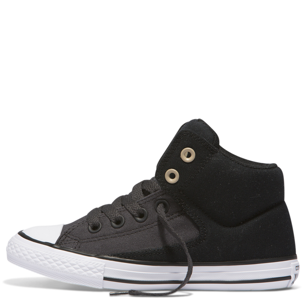 Converse Kids Chuck Taylor All Star High Street Junior High Top Black Afterpay