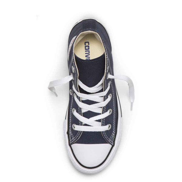 Converse Kids Chuck Taylor All Star Junior High Top Navy Boys Shoes