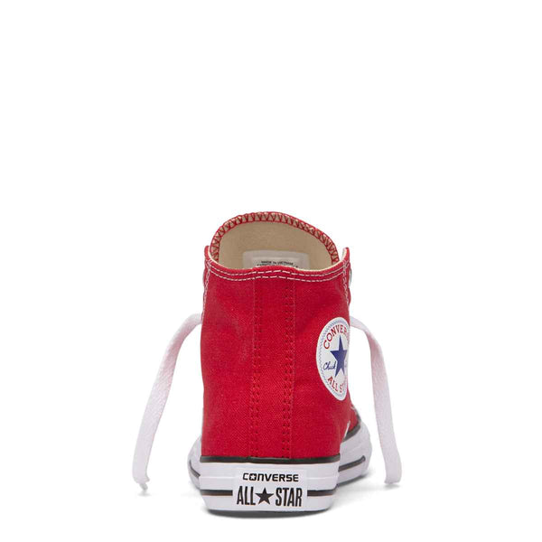 Converse Kids Chuck Taylor All Star Junior High Top Red Shoes Australia