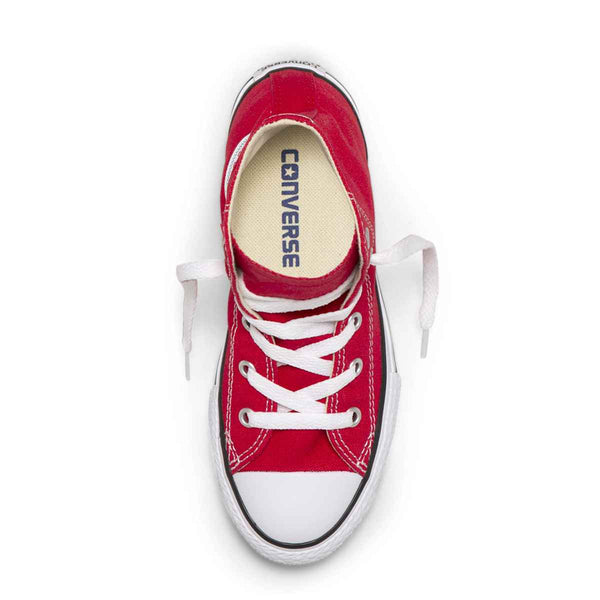 Converse Kids Chuck Taylor All Star Junior High Top Red Boys Shoes