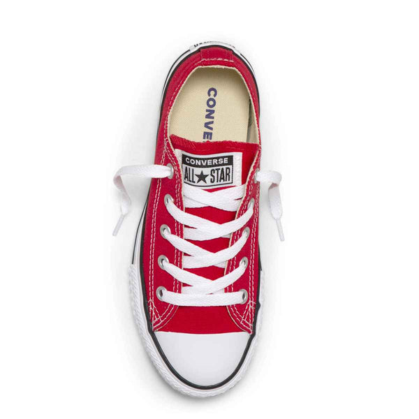 Converse Kids Chuck Taylor All Star Junior Low Top Red Boys Shoes