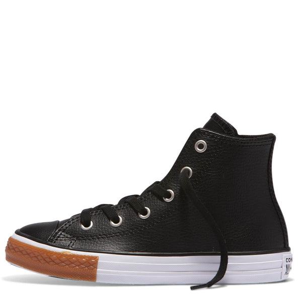 Converse Kids Chuck Taylor All Star No Gum Junior High Top Black