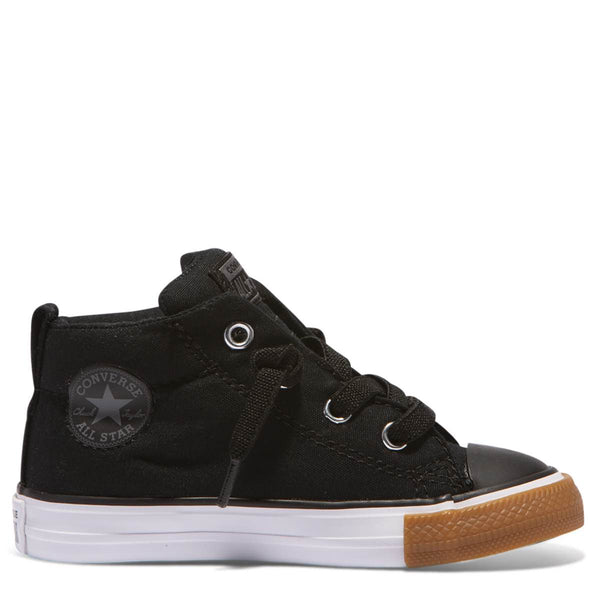 Converse Kids Chuck Taylor All Star No Gum Toddler Mid Black